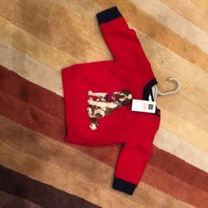 Baby Gap SZ 3-6 Months NEW Red Dog Sweater